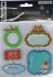 Dovecraft Christmas Tags Clear Stamps